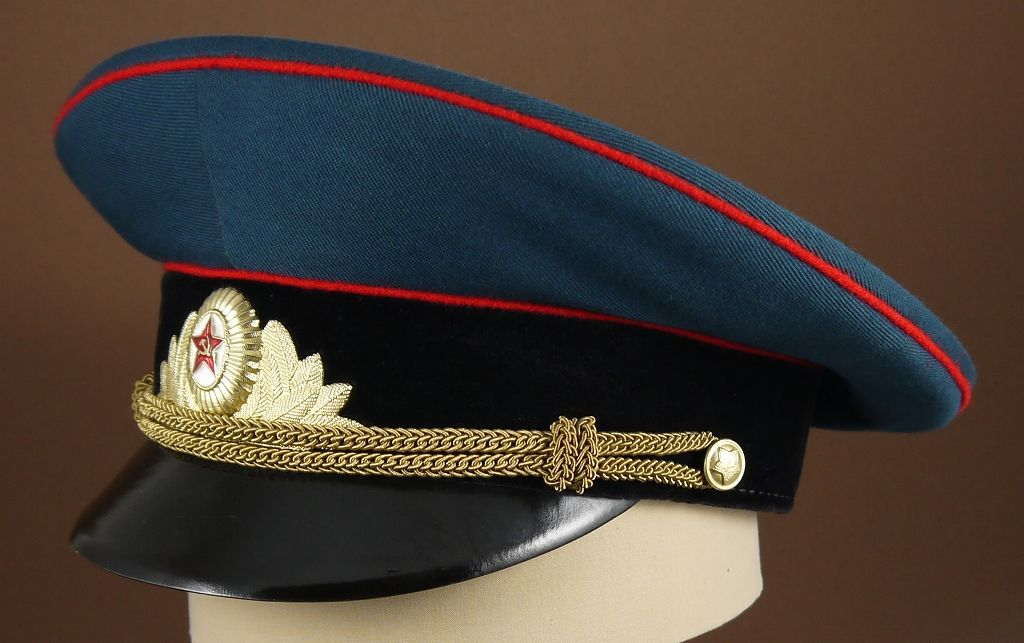 d2b5180e75c 1969-1991 Soviet Army armored   artillery   engineer officers  parade  uniform visor cap