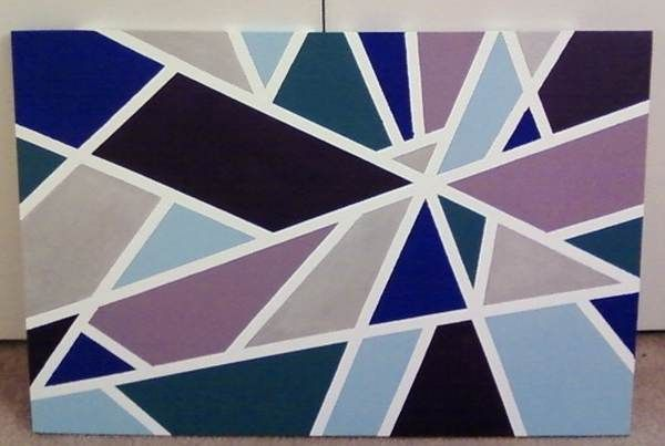 Diy Geometric Canvas Painting Thrifty Momma Ramblings
