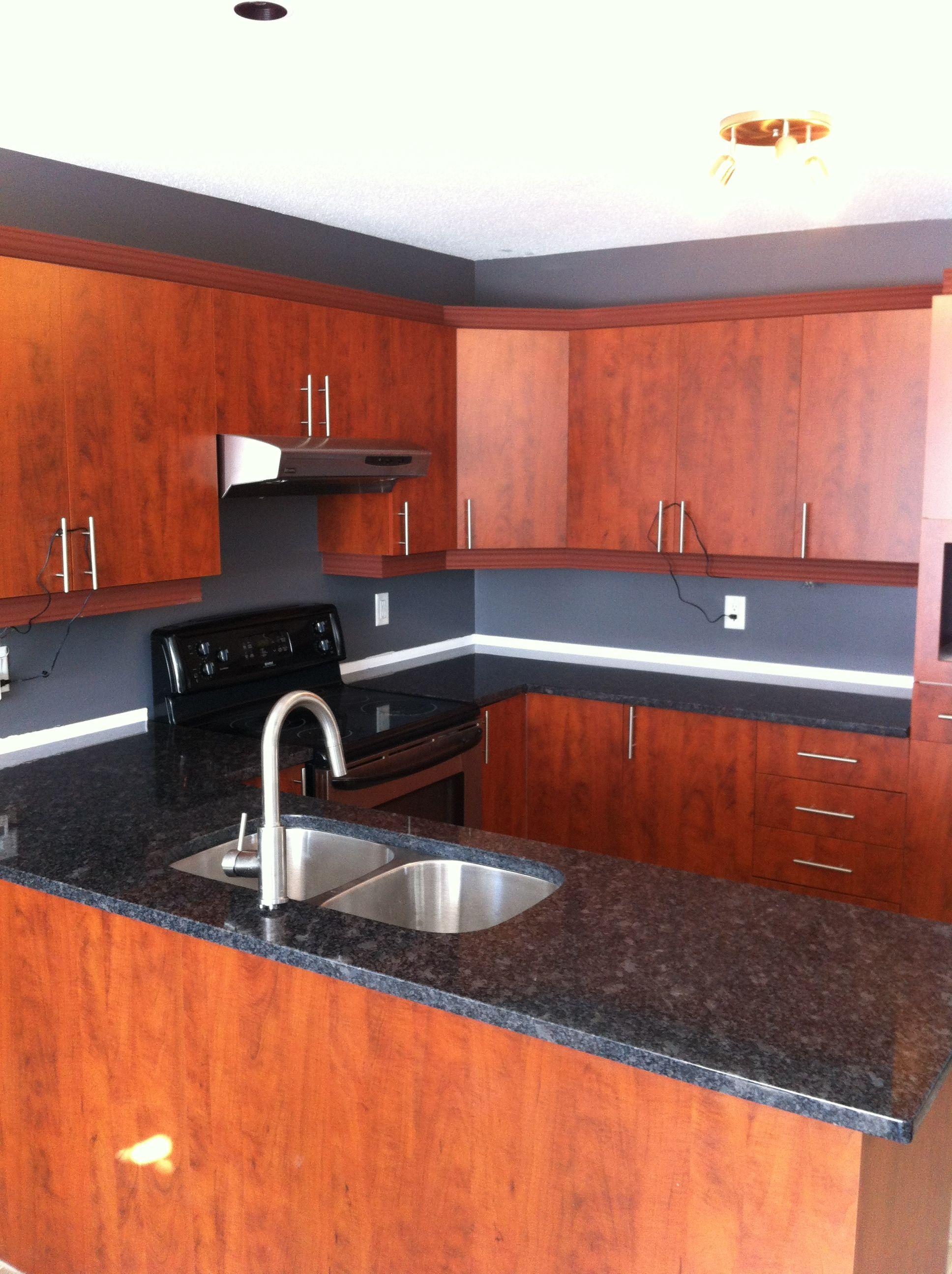 Steel Grey Granite Countertops | http://www.fireplacecarolina.com ...