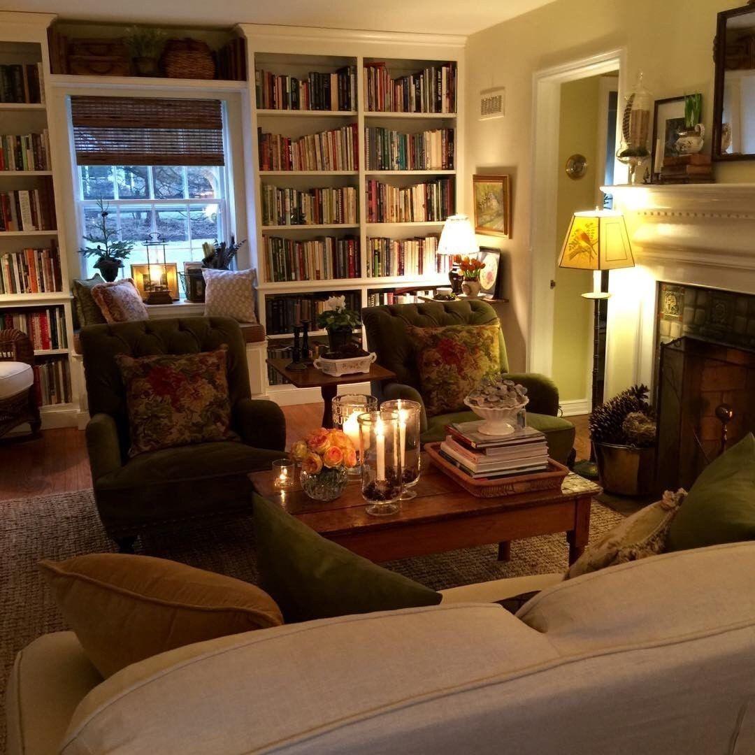 The best space living room bookcases arredamento casa for Interni case inglesi