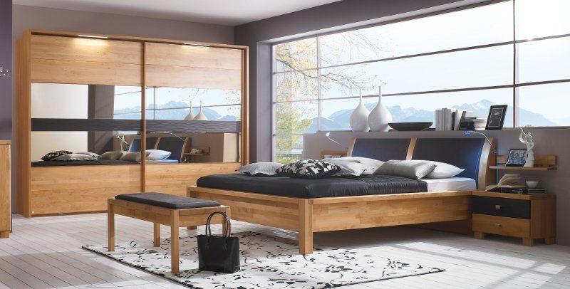 Erle Schlafzimmer ~ Schlafzimmer massivholz schrank bett erle massiv rhoda
