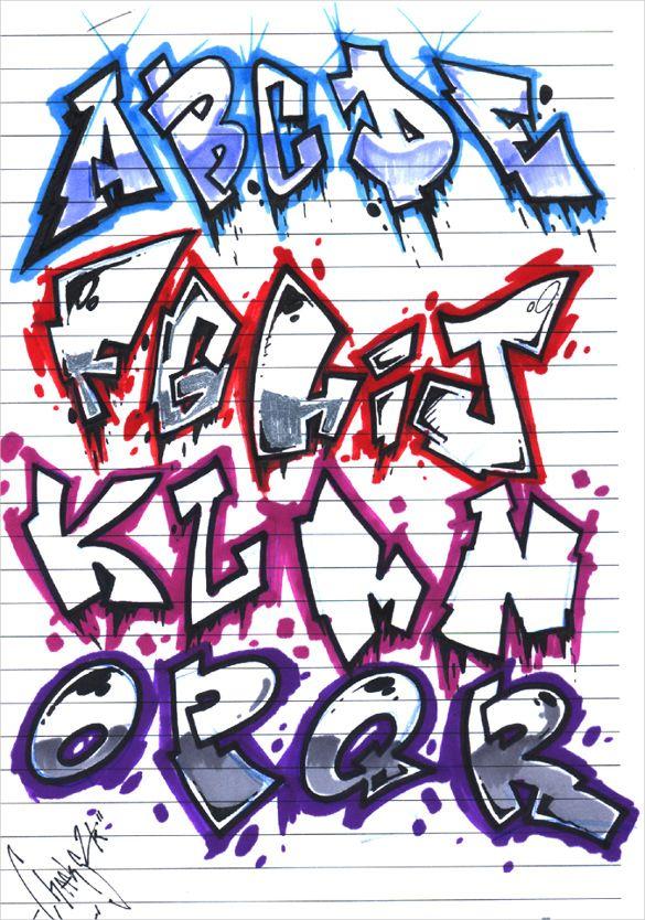 Graffiti Alphabet Letter Template 20 Free Psd Eps Format
