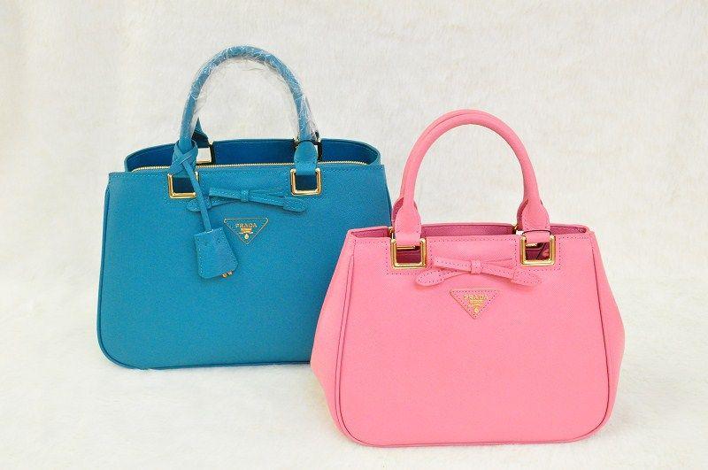 0cc97e29774b Prada Saffiano Lux Tote Bag With Pink Epsom Leather BN2245/SYNNIJA Size:  W26XH20XD14CM