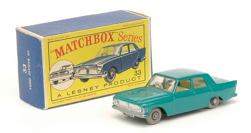 1963 33b Ford Zephir 6 Mk Ii Matchbox Matchbox Cars Corgi Toys