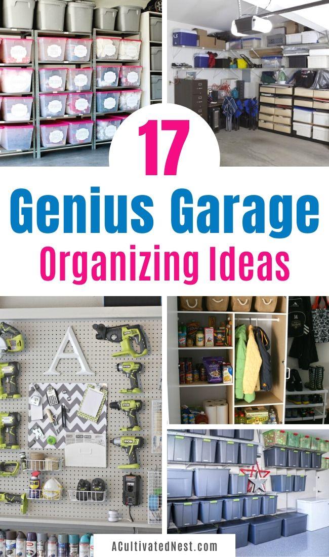 17 Brilliant Garage Organization Ideas Garage Organization Organization Seasonal Storage Ideas