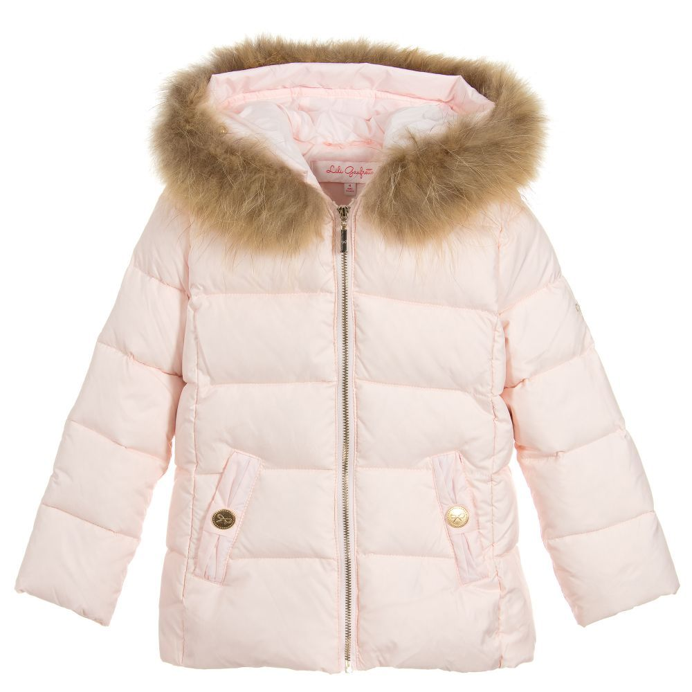 796257eb8 Pink Down Padded Jacket for Girl by Lili Gaufrette. Discover more ...