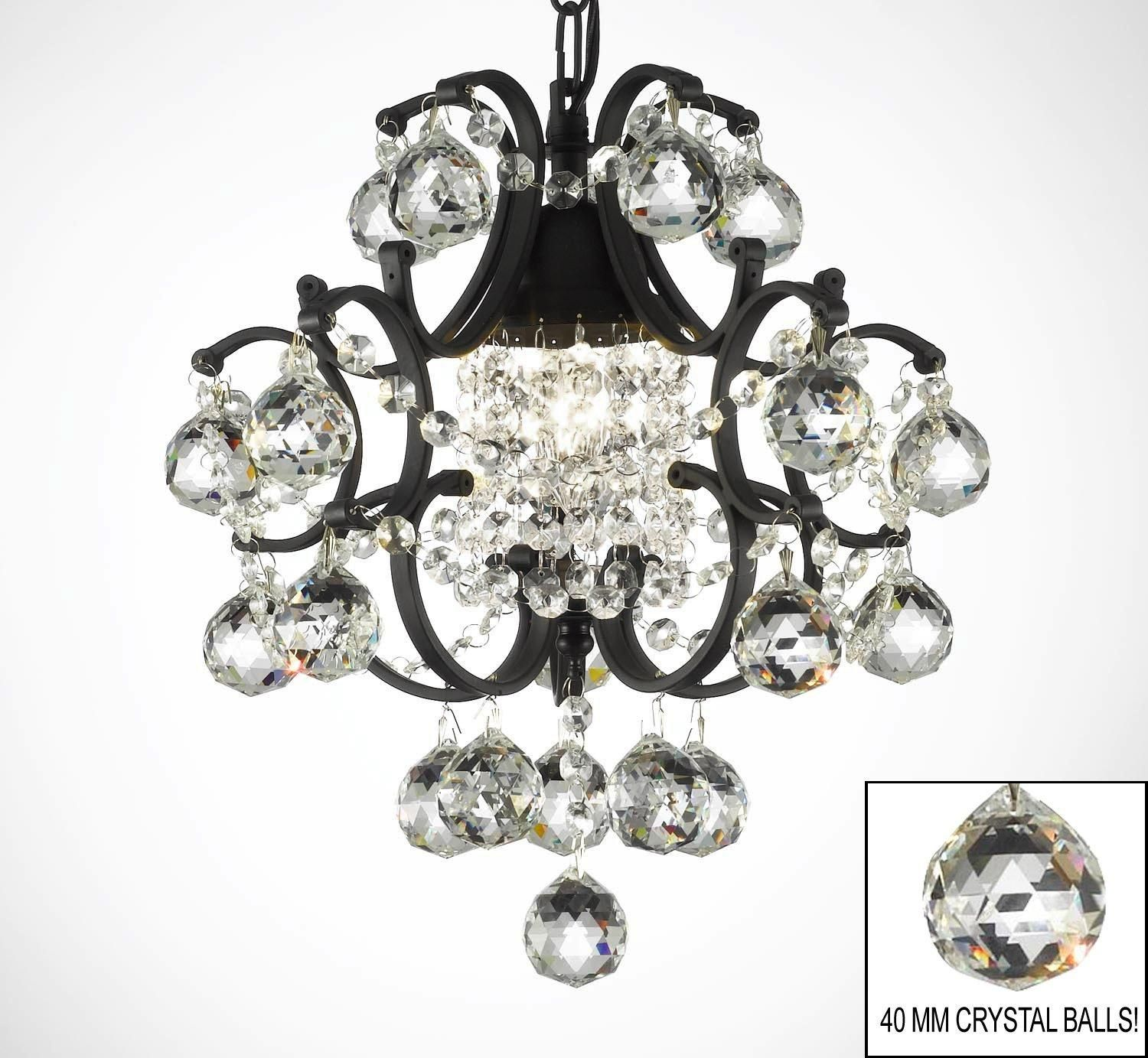 Wrought Iron Mini Chandelier Lighting With
