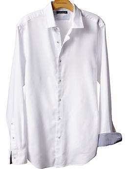 Tailored slim fit oxford shirt | Banana Republic