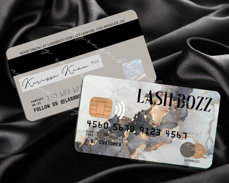 Credit Card Business Cards Canva Template Personalize Edit Etsy In 2021 Small Business Cards Business Card Printer Credit Card Design