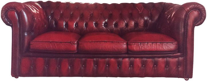 Astounding One Kings Lane Vintage English Oxblood Chesterfield Sofa Cjindustries Chair Design For Home Cjindustriesco