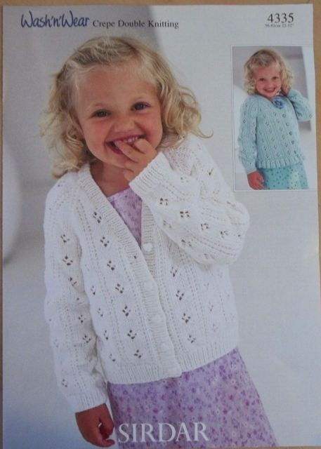 965e5579d938 Sirdar 4335 Knitted Cardigans for 1 year to 12 years old in Double ...