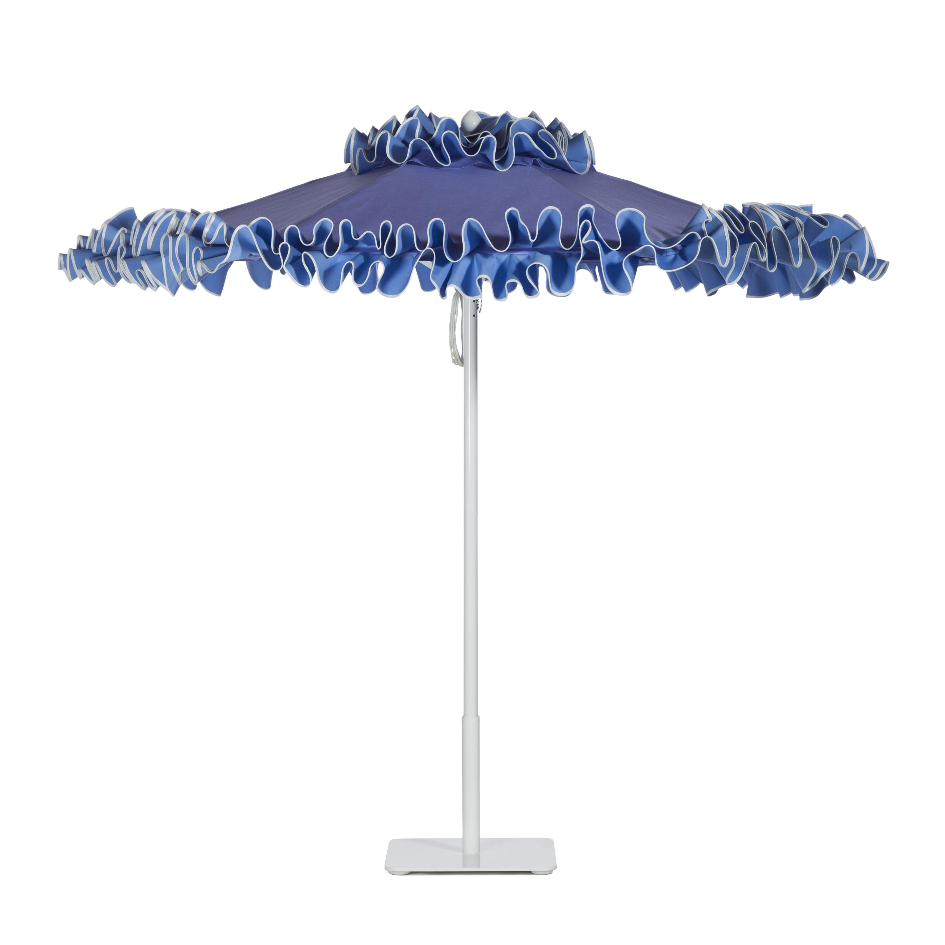 Petite Flamenco aluminum umbrella with White frame in Lavender Cloud ...