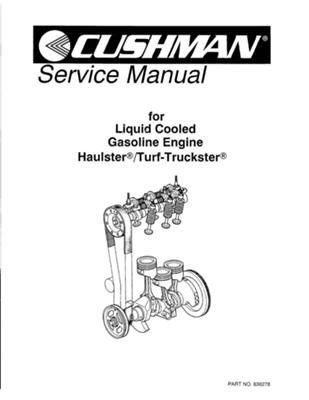 EZGO 836278 1989-1995 Service Manual for Cushman Gas
