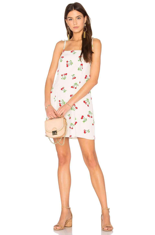 Privacy Please Grover Dress In Red Cherry Print Dress Dresses White Mini Dress [ 1450 x 960 Pixel ]