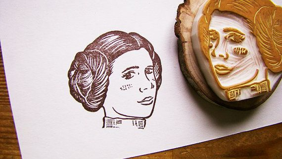 Star Wars Princess Leia Rubber Stamp | PrintMaking | Pinterest ...