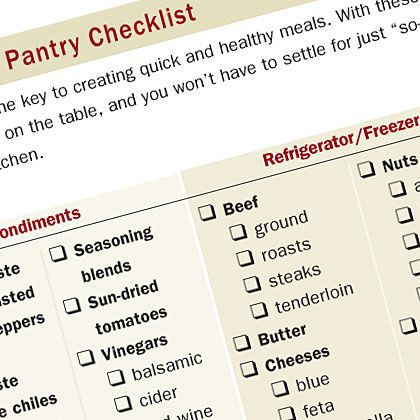 Pantry Essentials Checklist Keep These Ingredients On Hand And Youll Always Be Able To Get A Tasty Meal The Table