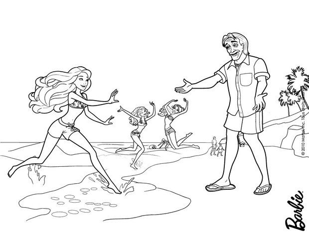 Barbie In A Mermaid Tale Coloring Page More Barbie Mermaid Content On Hellokids Com Barbie Coloring Pages Coloring Pages Barbie Coloring