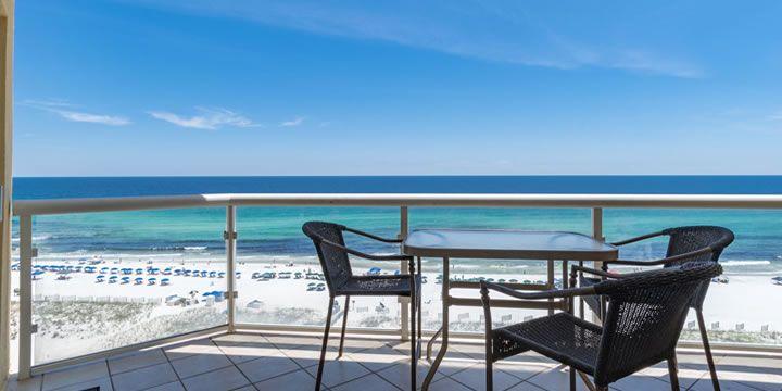 View Of The Gulf From Emerald Isle Inium In Pensacola Beach Pensacolabeach Emeraldcoast