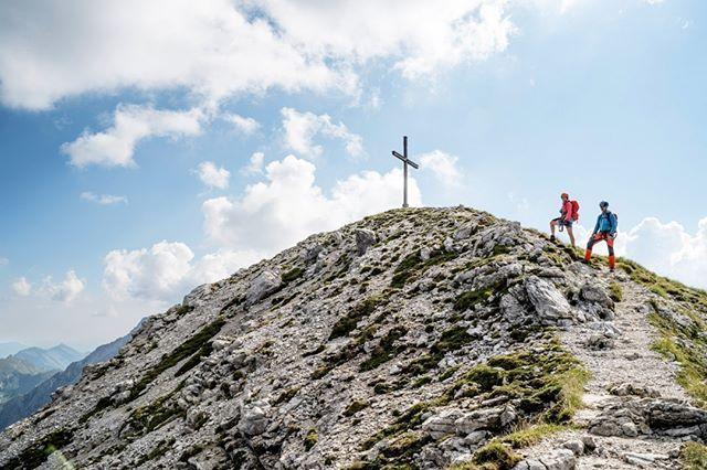 Hindelanger Klettersteig Wengenkopf : Gemütlich geht es vom ausstieg des hindelanger klettersteigs zum