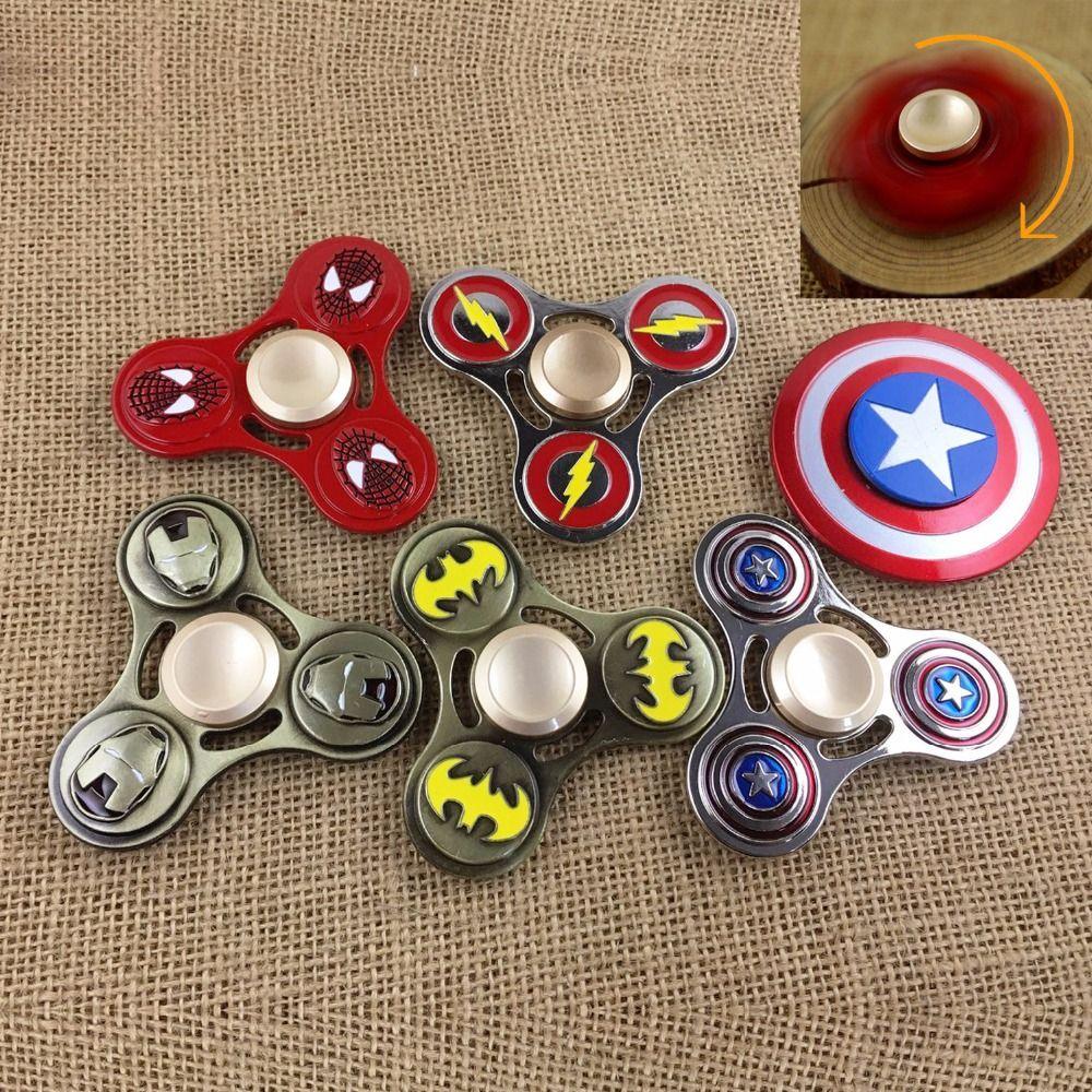 The Avengers Hero Triangle Gyro Finger Spinner Fidget EDC Hand Toy Alloy Metal