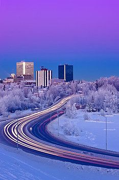 Kevin Smith - Alpenglow Over The Anchorage Skyline
