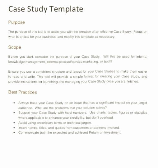 How To Write A Technical Case Study