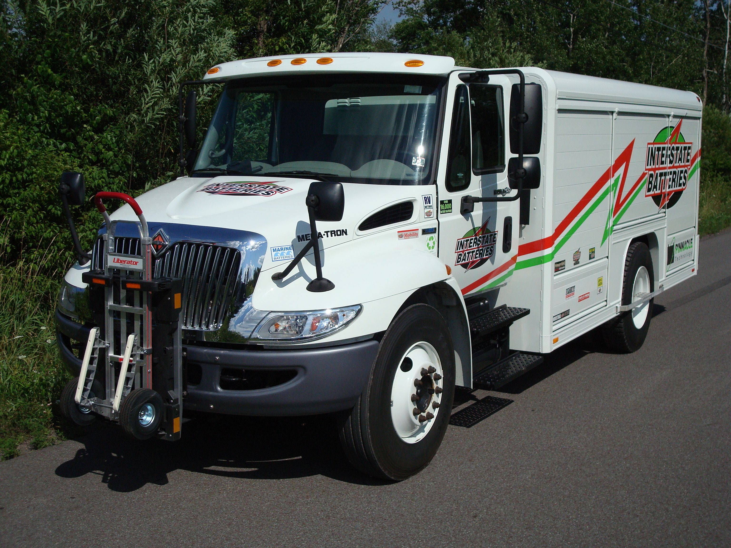International Navistar Interstate Batteries Route Delivery Truck Equipped With Hts Systems Patented Hand Truck Sentry Recreational Vehicles Hand Trucks System
