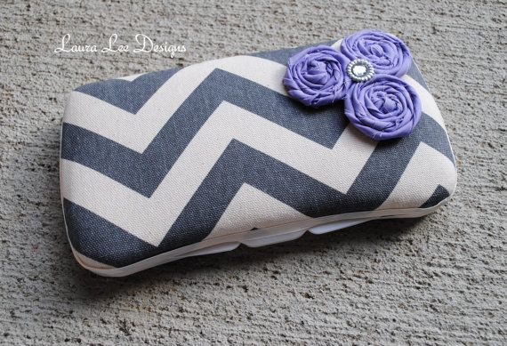 Gray Large Chevron with Purple Rolled by LauraLeeDesigns108, $12.00