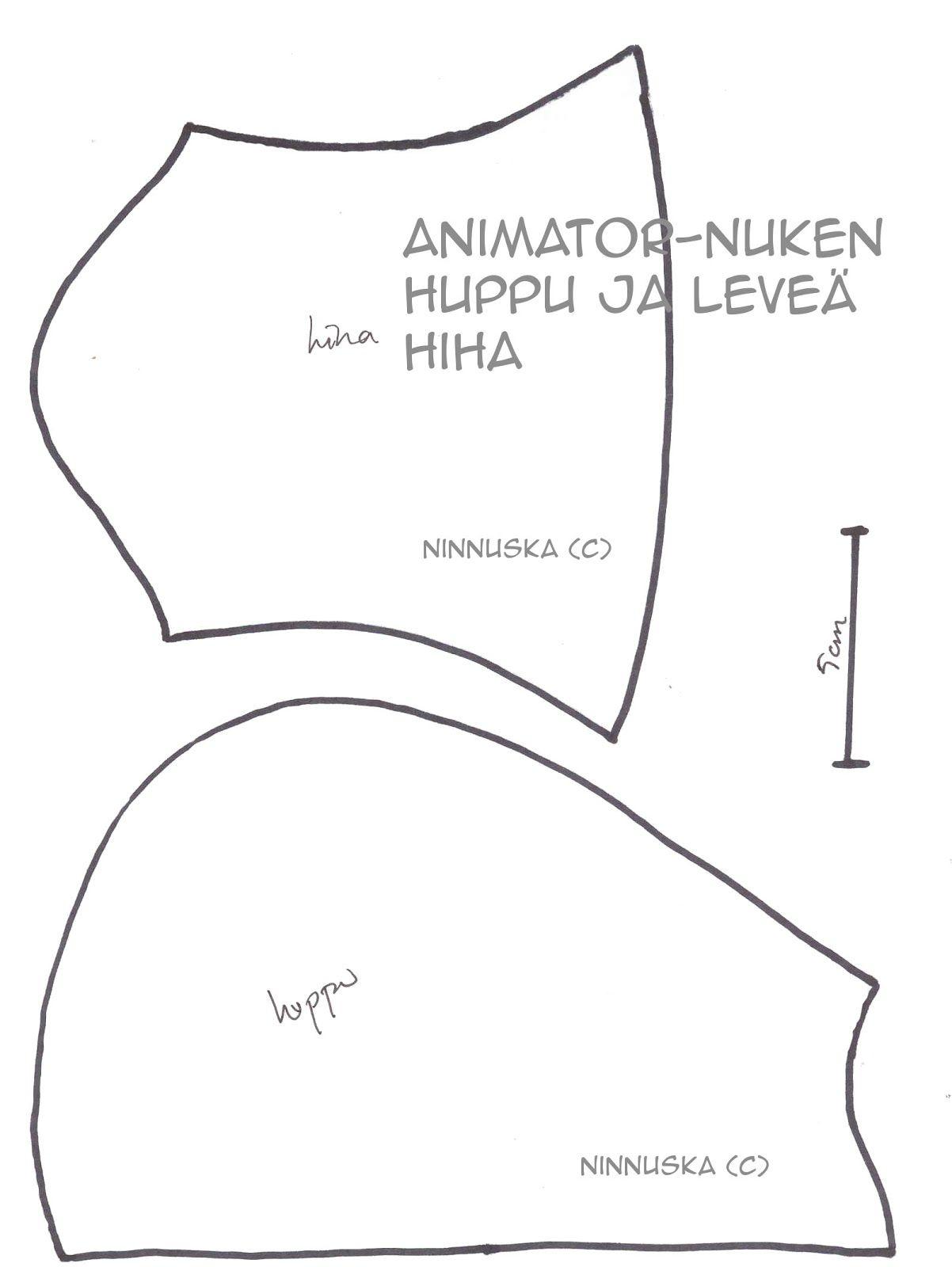 Ninnuska: Animator-nuken vaatteita lisää... ja kaavat