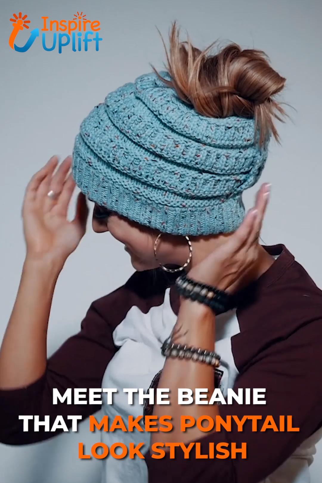 Photo of Soft Knit Ponytail Beanie ?