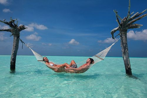 Tree Hammock, The Maldives Islands