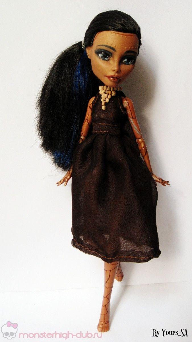 4aae30153772 Летнее шифоновое платье для кукол Monster High   Monster High Club ...