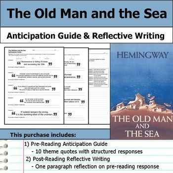 The Old Man And Sea Anticipation Guide Reflection Post Reading Activitie Novel Studies Essay