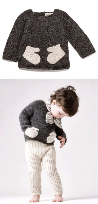 sweater with mitten pockets