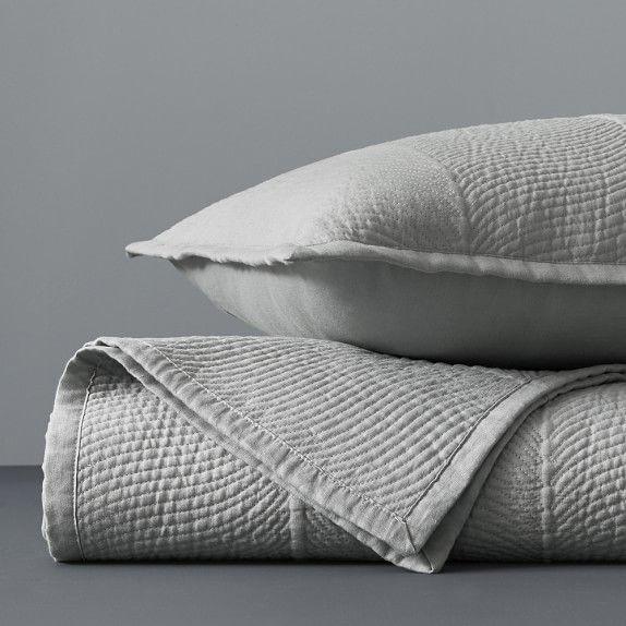 Lyra Linen Coverlet Amp Shams Linen Bedding Bed Pillows