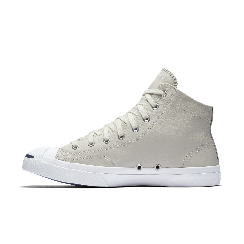 Converse Jack Purcell Leather Mid Top Shoe Size 11.5 (Cream