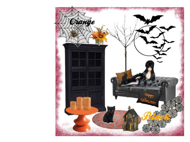 """""""Helloween challenge 2"""" by marinasokolova ❤ liked on Polyvore featuring interior, interiors, interior design, home, home decor, interior decorating, Ethan Allen, Heritage Lace, Jaipur and ESPRIT"""