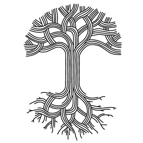 Oak Tree With Roots Tattoo: Oakland Line Art - Google Search