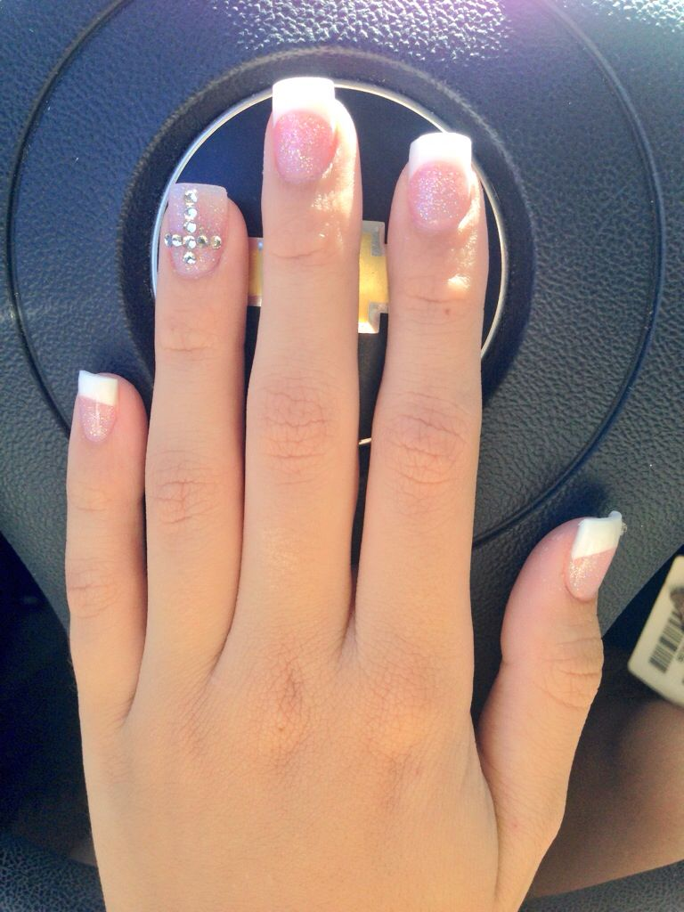 Cross nails nails pinterest cross nails french fashion nail with cross design prinsesfo Image collections