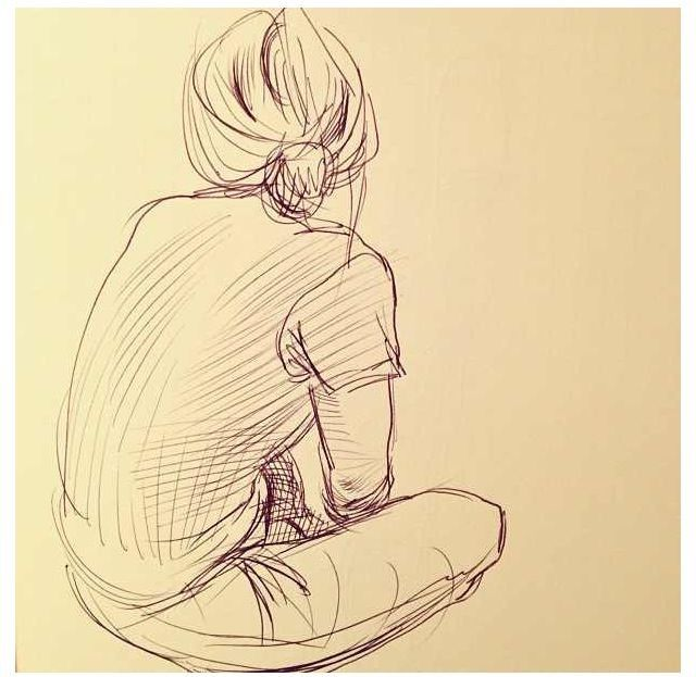 Sitting Position Sketch Art Sketches Sketches Drawings