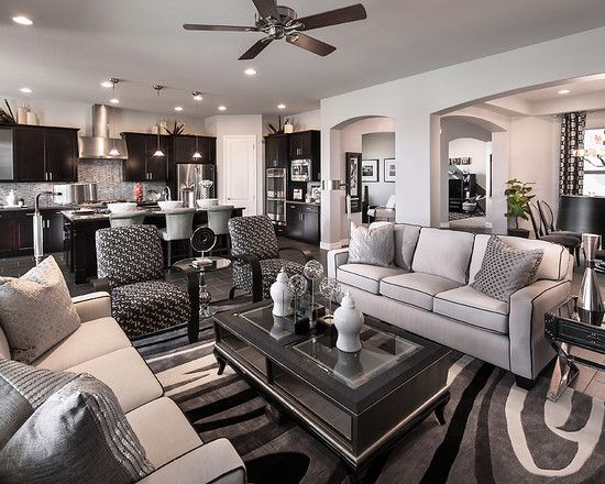 Warming Soft Color Applied In Updated Interior: Grey Color Of House Design  Idea Equipped With · Gray Living RoomsGray ...