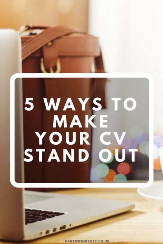CV Tips 5 Ways to Make Your CV Stand Out Pinterest - 5 resume tips