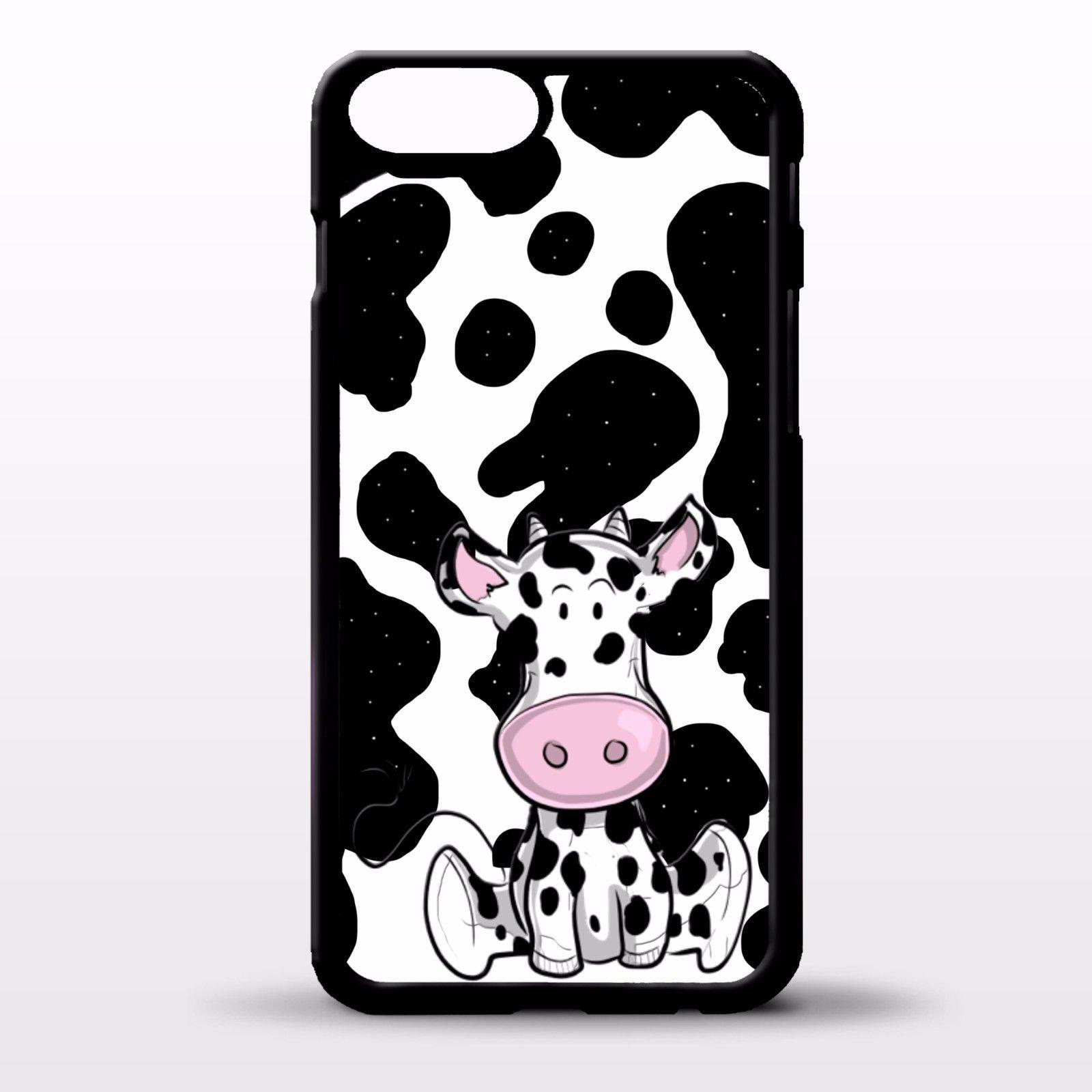 Cow cute spot cartoon print art pattern cover case for