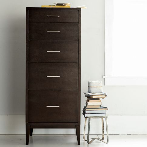 Narrow Leg 5 Drawer Dresser | West Elm $549 · West Elm BedroomSmall ...