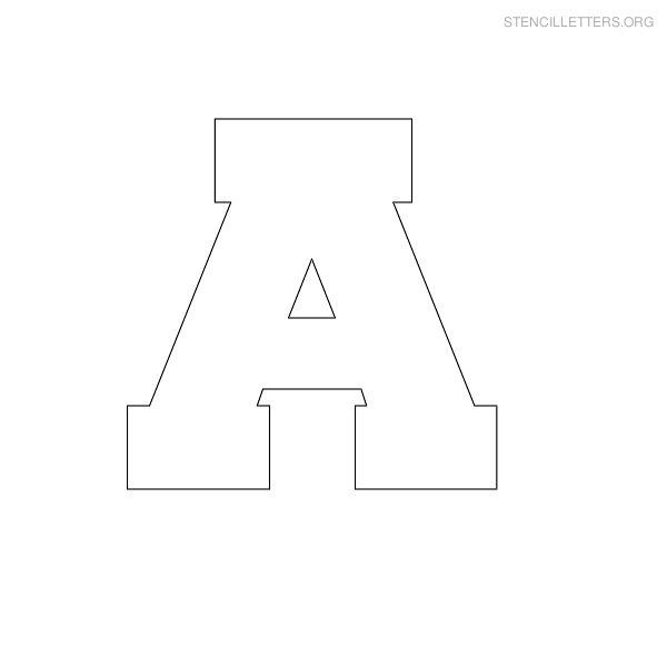 free printable block letter stencils | stencil letters a printable