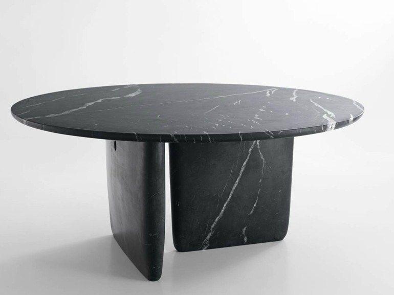 Round marble table TOBI-ISHI Marble table - B\B Italia Furniture