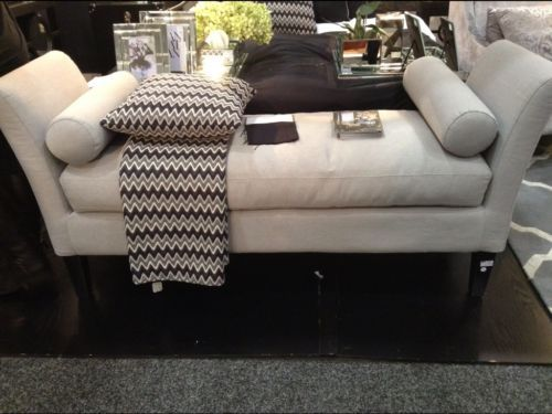 New Stunning Grey Bed End Ottoman Foot Stool With Cushions Ebay