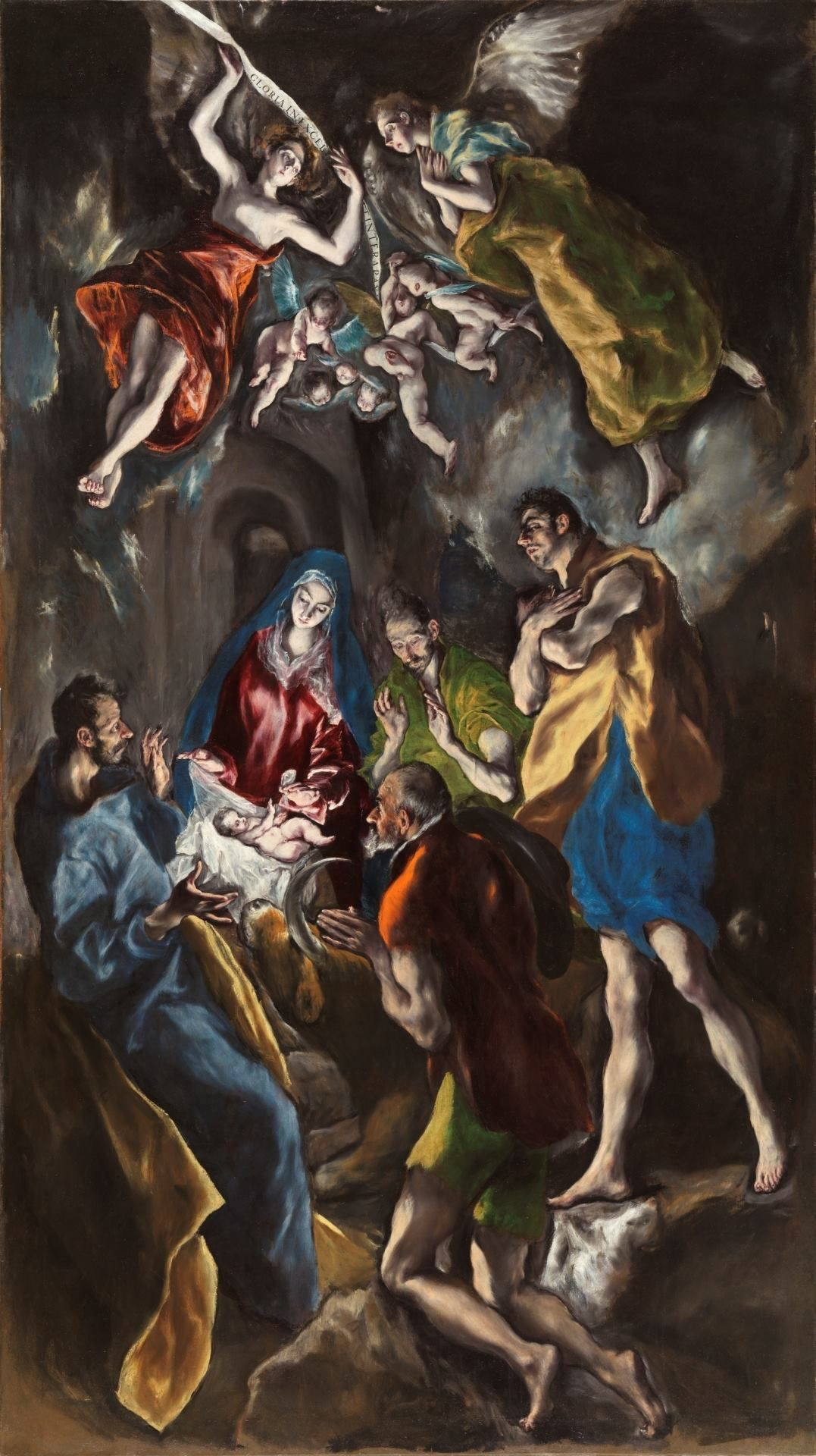 """Adoration of the shepherds"", El Greco, h. 1612-1614."