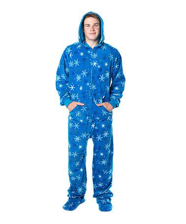 eb5baf2bcf Take a look at this Blue Snow Day Hooded Footie Pajamas - Adults by Footed  Pajamas on  zulily today! Merry Christmas Randy!