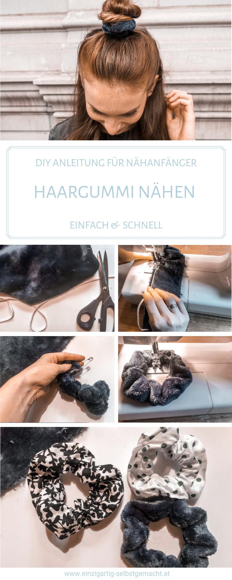 Haargummi nähen - einfaches DIY mit Stoffresten für Anfänger